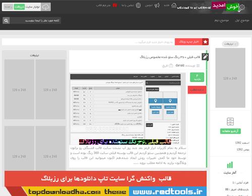 قالب تاپ دانلود ها برای رزبلاگ